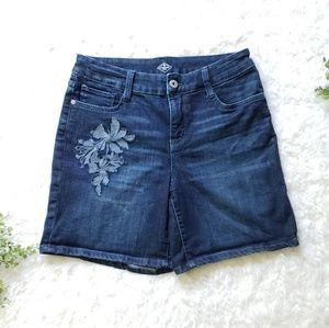 St. John's Bay Embroidered Denim Jean Shorts